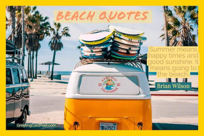 Beach Quotes Summer Sayings And Sunshine Greeting Card Poet