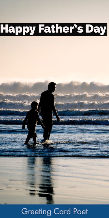 Dad and Son at beach image