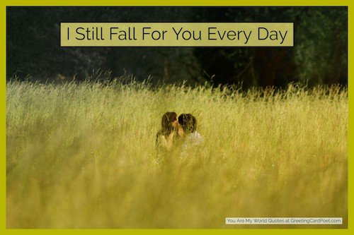I still fall for you every day image
