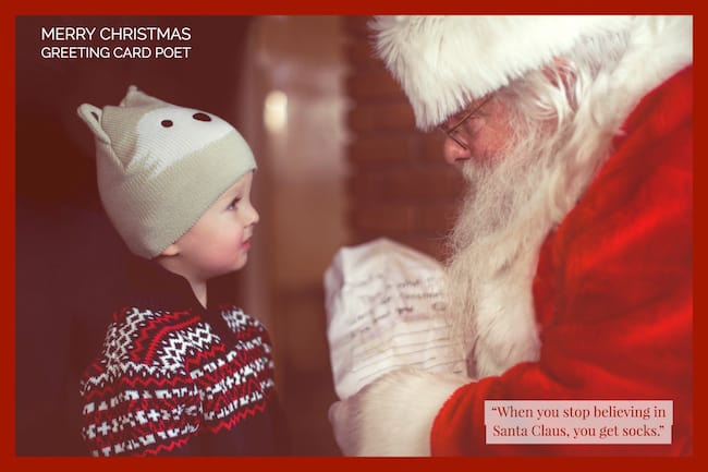 Santa Claus Saying image
