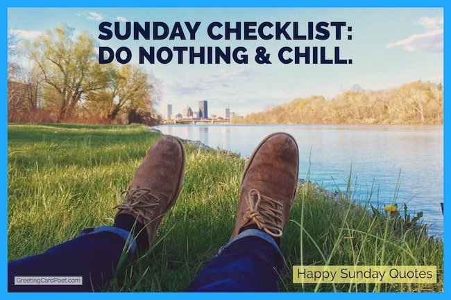 Sunday checklist quote image