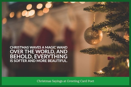 The magic of the season quote image