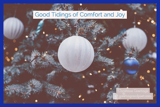 good tidings of comfort and joy greeting image
