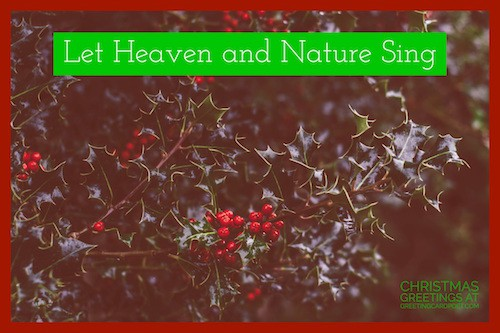 let heaven and nature sing image