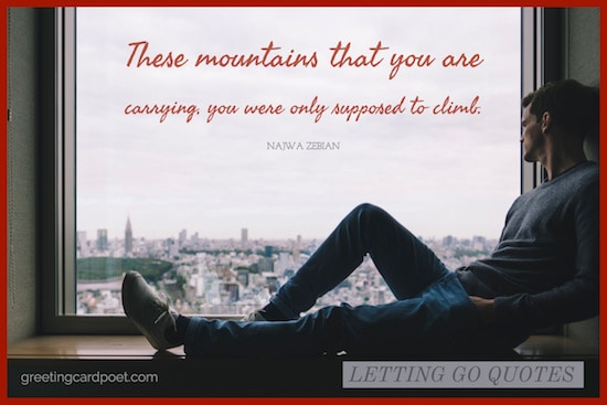 mountains carrying quote image