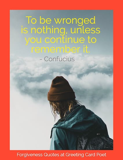 Confucius quote on being wronged image