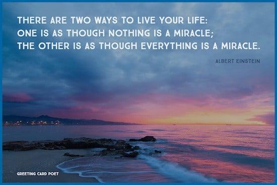 Einstein Miracle quote image