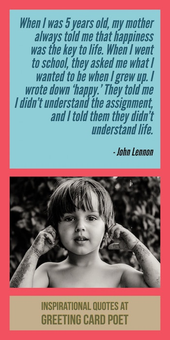John Lennon on being happy image