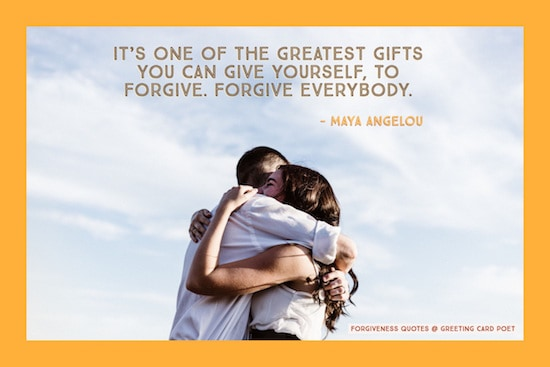 Maya Angelou quote on forgiving image