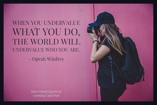 Oprah quote on value of yourself image