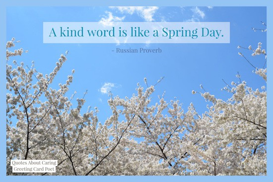 A kind word is like a spring day image