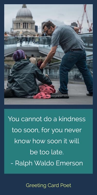ralph waldo emerson quote on kindness image