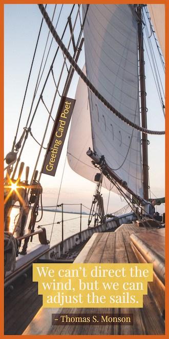 Adjust the sails saying image