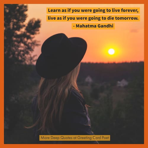Gandhi quote on living