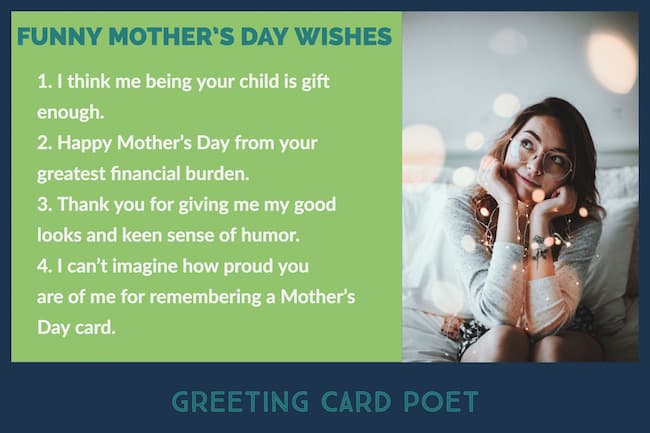 funny wishes for mom image