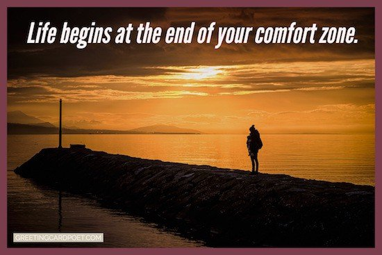 life begins at the end of your comfort zone image
