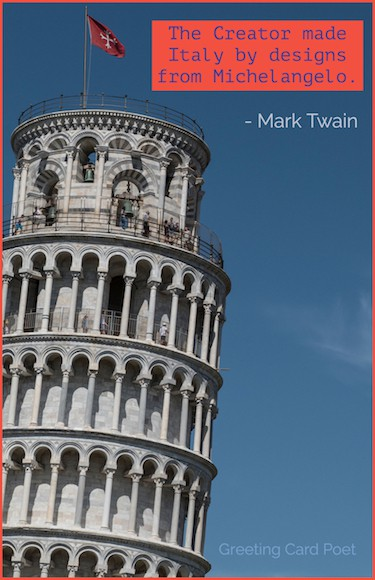 Mark Twain quote on Italy