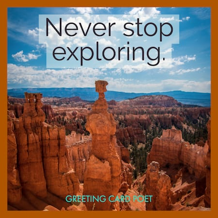 Never stop exploring image
