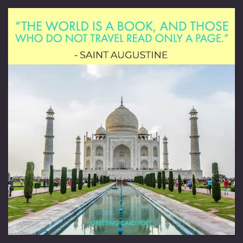 Saint Augustine quote on travel