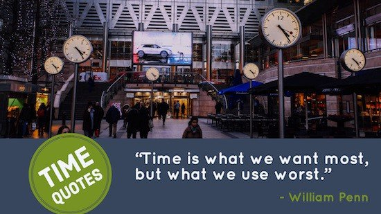 William Penn quotation on time