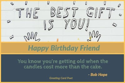 Image of: Funny Bob Hope Birthday Quote Image Messages Wishes And Quotes 365greetingscom Happy Birthday Friend Messages To Bring Smile Greeting Card Poet