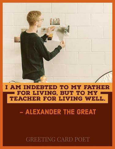 Alexander the Great quote on teaching image