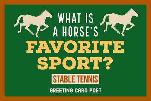 Horse double entendre image
