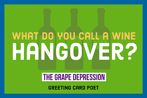 wine and hangover joke image