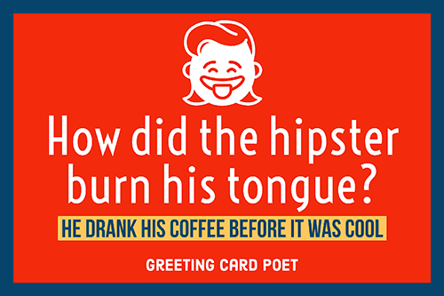 hipster coffee joke image