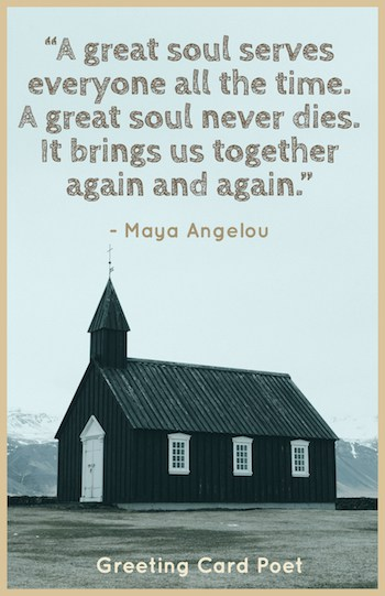 Maya Angelou sympathy quote meme