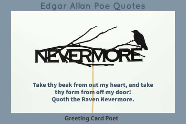 Best Edgar Allan Poe Quotes Nevermore Greeting Card Poet Fascinating Edgar Allan Poe Love Quotes