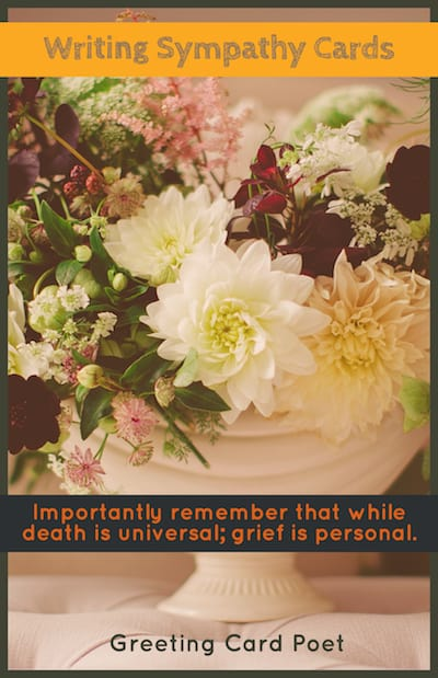 Writing sympathy cards image