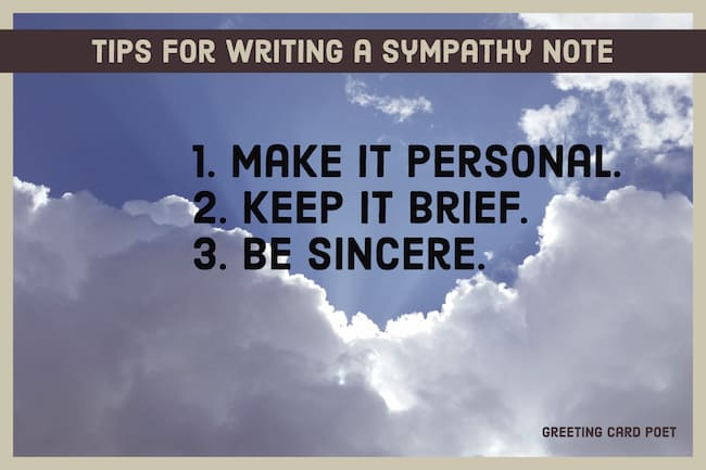 What to write in a sympathy card image