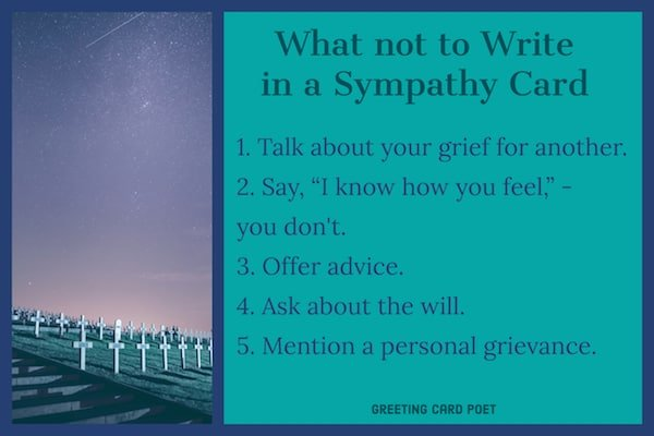 what not to write in sympathy note image