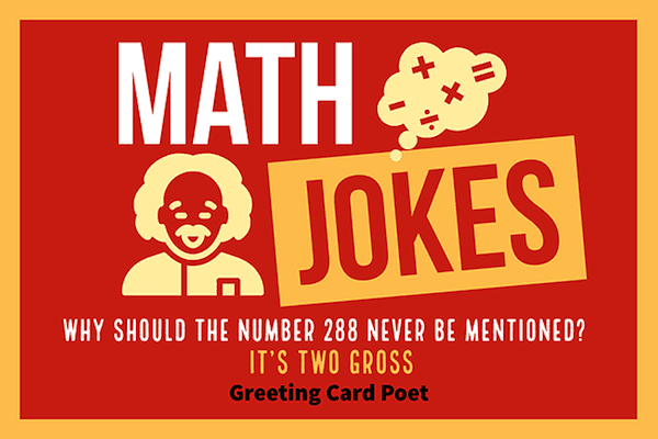 Funny math jokes that really add up for laughs greeting card poet math jokes image m4hsunfo
