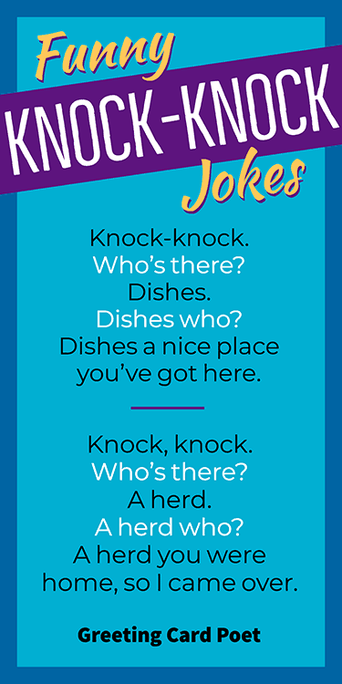 Knock-knock joke collection image
