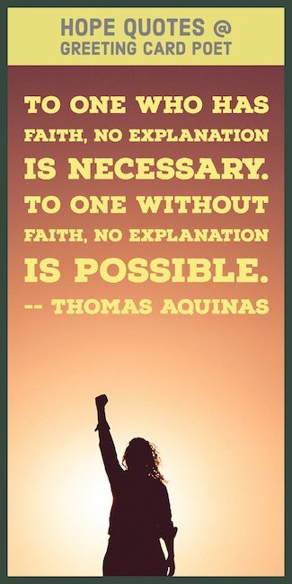 Religious Thomas Aquinas Faith Quote Image Greeting Card Poet Hope Quotes To Aspire For Greatness Greeting Card Poet