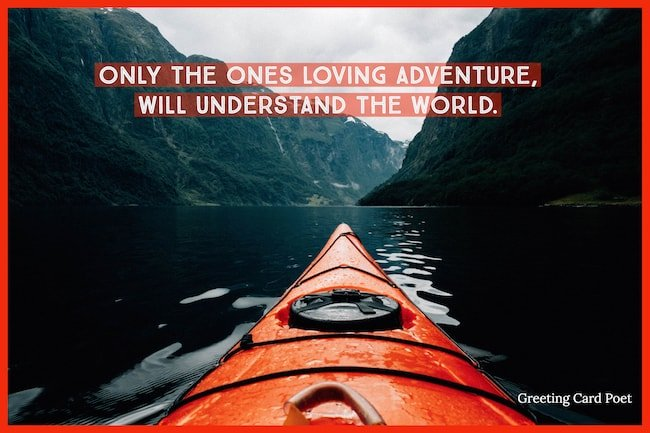 quotation on loving adventure image
