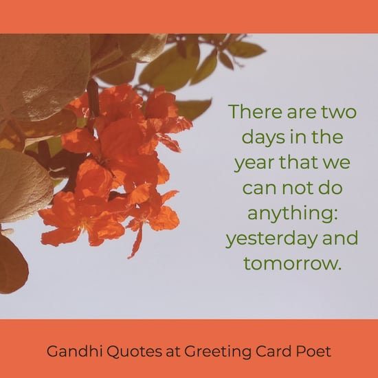 Gandhi quote on yesterday and today image