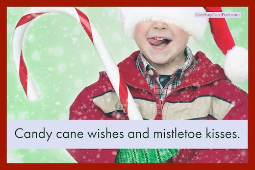 Candy cane wishes and mistletoe kisses image