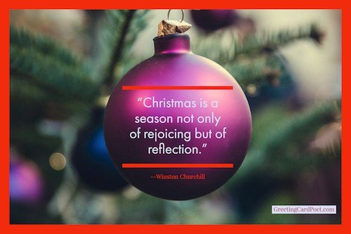 Churchill on reflecting during holidays - Christmas quotes