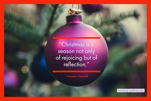 Churchill on reflecting during holidays image