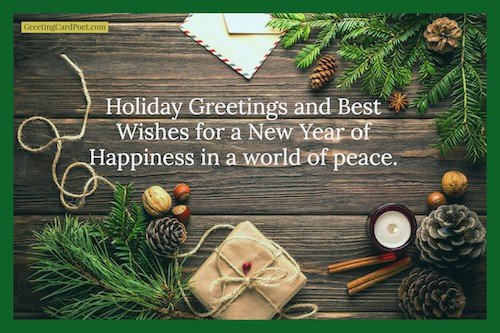 Holiday best wishes image