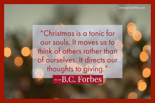 Xmas is a tonic for our souls - Christmas quotes
