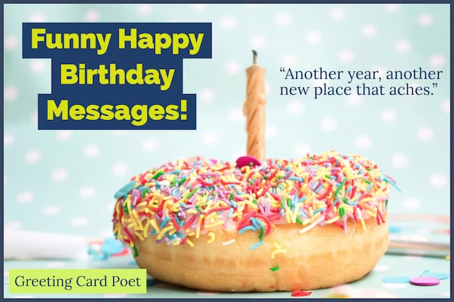 funny happy birthday message image