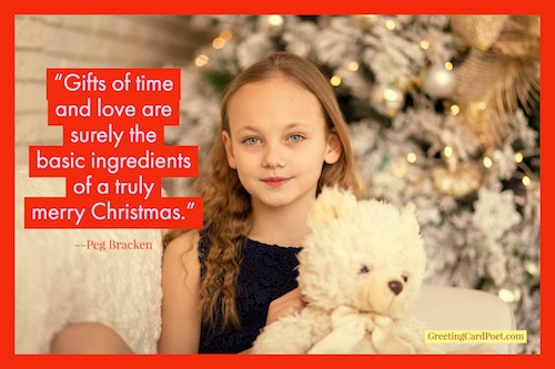 gifts of time and love - Christmas quotes