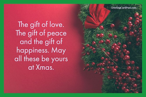 Christmas Message For Mom.Holiday Card Messages Christmas Wishes Sayings Greeting