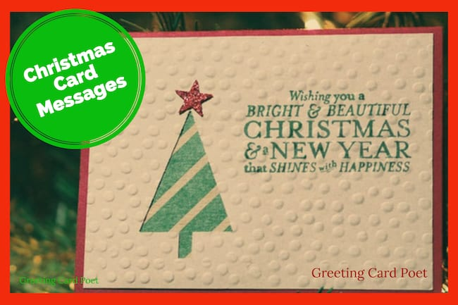 Christmas card messages, sayings, ideas image