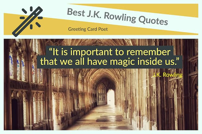 magical sayings from J.K. Rowling image
