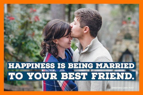 Happiness is being married to your best friend image